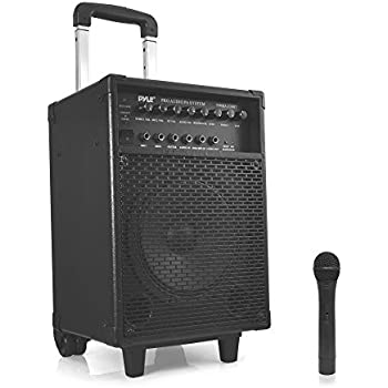 Pyle PWMA230BT - Bluetooth Wireless & Portable PA Karaoke Speaker System, Built-in Rechargeable Battery, Wireless Microphone