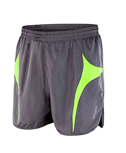 SPIRO Micro Lite Running Shorts in Grey/Lime Taille: XXL