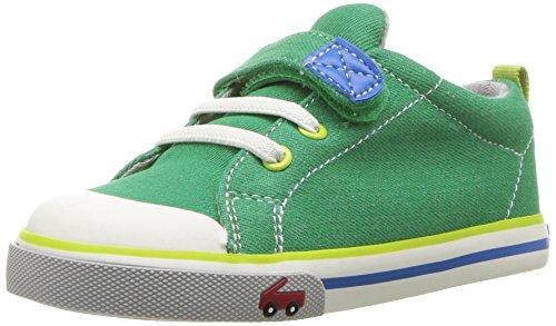 - See Kai Run Boy's Stevie II Sneaker, Green Denim, 7 M US Toddler(1-4 years)