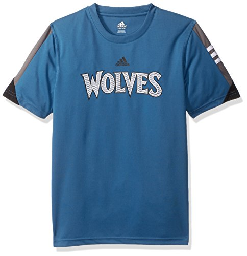 - Outerstuff NBA Youth 8-20 Minnesota Timberwolves Possession Short Sleeve Performance Tee-Capital Blue-L(14-16)