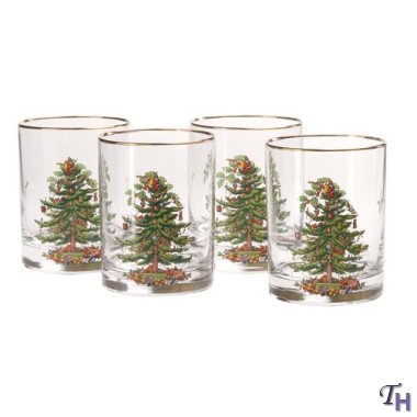 (Spode Christmas Tree Glass Double Old Fashioneds Set(s) Of 4)