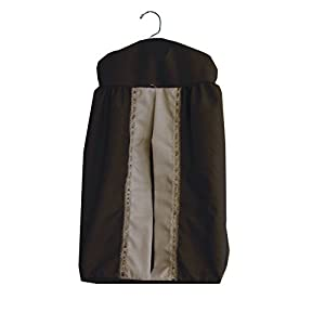 Baby Doll Bedding Regal Diaper Stacker, Chocolate