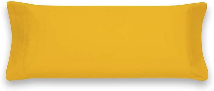Almohada de 75 Funda de Almohada Lisa Sancarlos B/ásicos Color Azul Algod/ón 100/%