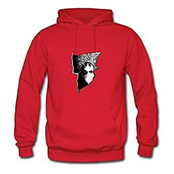 Women Informal O-neck Ebolam X-large Customized Nyctophilia Red Hoodies