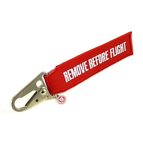 Remove Before Flight Porte-clés avec mousqueton à bec