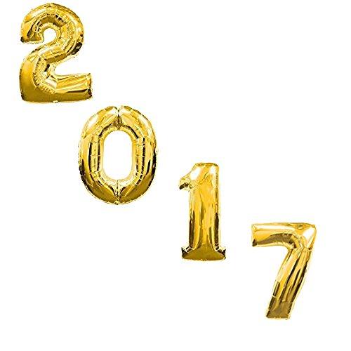 2017 Year Inch Mylar Balloons