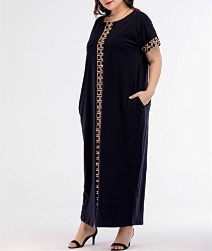 Courtes Robe Maxi Dubai Abaya Pocket Femmes 4XL Musulmane Plus Taille M zhbotaolang Manches 1q0pwtK