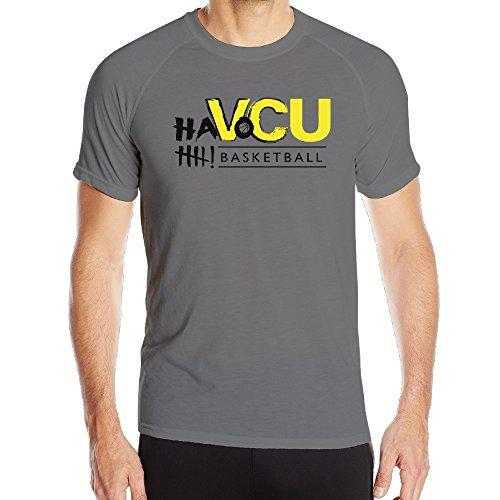 (Men's VCU Rams Ha Basketball Quick Dry Athletic Tshirt)