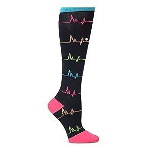 Nurse Mates Women's 12-14 Mmhg Compression Trouser Sock Ekg