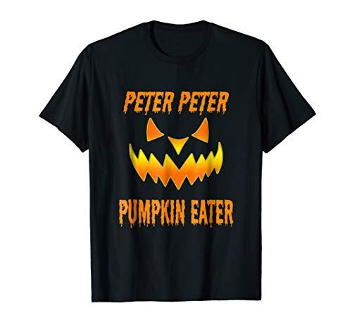 Mens Peter Peter Pumpkin Eater Couples Halloween Costume T-shirt