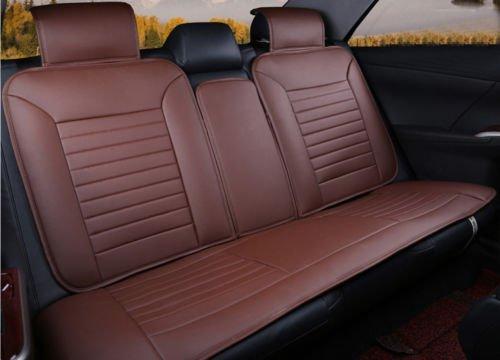 Best of Moonet Classic Car Seat Cushion Cover 10pcs Full Set Brown Needlework Pu Leather