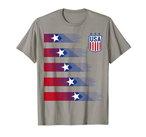 - Women Men Kids USA Soccer Shirt - USA Cheer Jersey 2019 T-Shirt