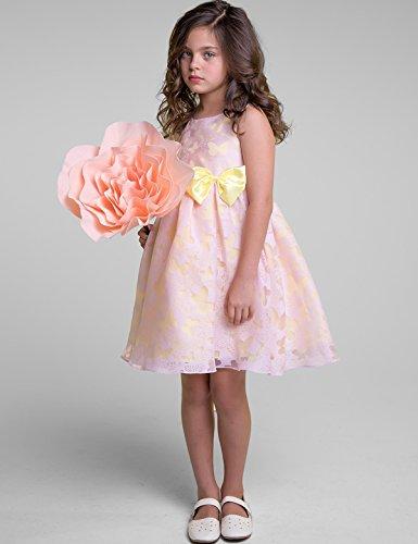Dress Princess Girl Sleeveless Pink NNJXD Butterfly Tutu Printed ZdF6qYqv