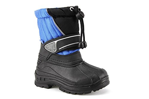 Ositos Toddler Kids BHD07-I Two Tone Fur Lined Snow Boots