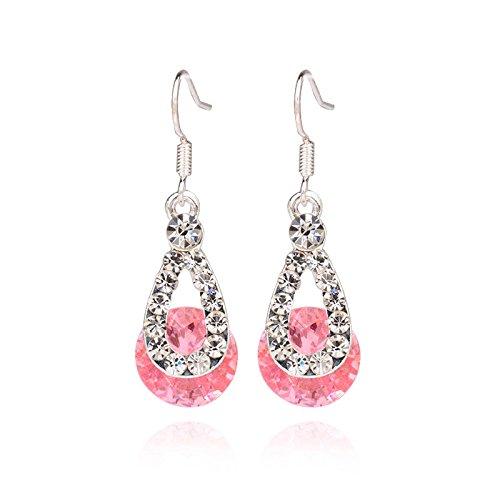 - Redvive Top Big Crystal Pendant Fashion Long Paragraph Brilliant Drop Earrings