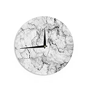 "KESS InHouse Chelsea Victoria ""Marble No 2 "" Black Modern Wall Clock, 12"""