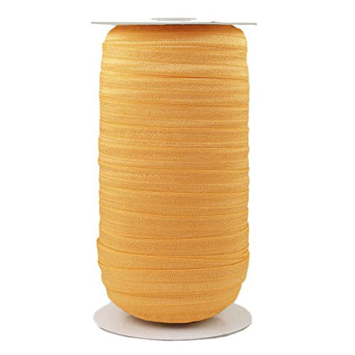 Gold Honey Wholesale 5/8'' Fold Over Elastic 100yd by ElasticByTheYard