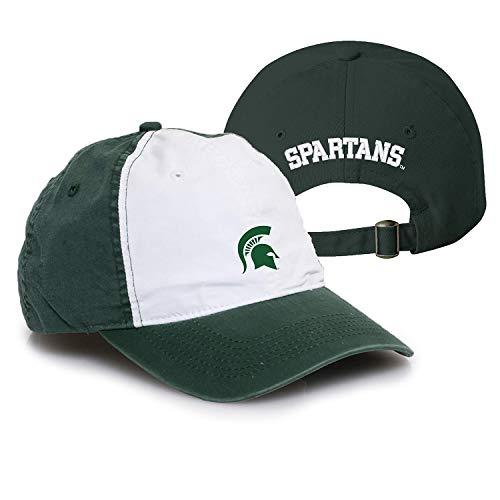 (AV31 - Michigan State Spartans Primary Logo Vintage Adjustable Hat - OS - Dark Green/White)