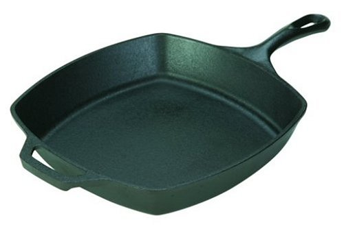 Lodge L8SQ3 Cast Iron Square Skillet, 10.5 inch by Lodge (Image #2)