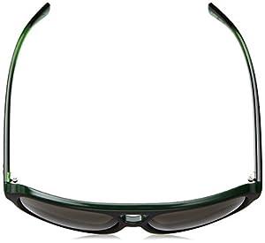 Armani Exchange Men's Injected Man Square Sunglasses, Military Green/Top Matte Black, 59 mm