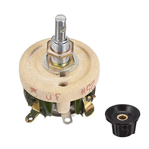 - uxcell Wirewound Ceramic Potentiometer Variable Rheostat Resistor 25W 30R Ohm with Knobs