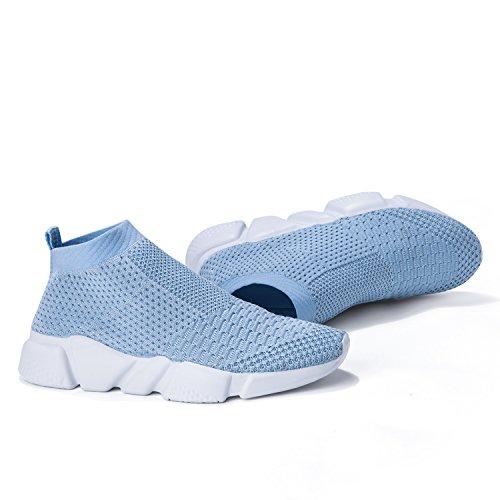 Laufende leichte Breathable beiläufige Sportschuhe der Frauen arbeiten Art- und Weiseturnschuh-wandernde Schuhe um Hellblau