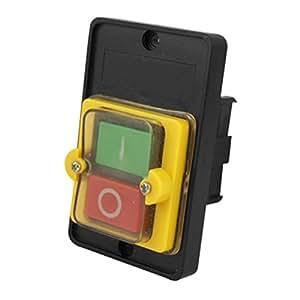 Sourcingmap–AC 220/380V Encendido/Apagado A Prueba de Agua Interruptor de botón KAO-5
