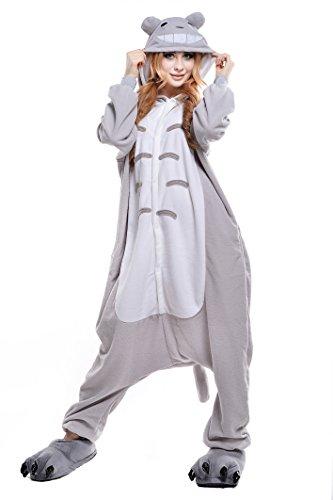 NEWCOSPLAY Unisex Adult Totoro Halloween Onesie Costume Pyjamas (XL, Totoro)