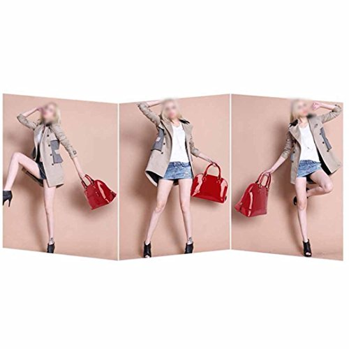 Zip Shape Around New Red Portable 082 Bag Bag Messenger Handbags Shell Fashion Satchel Dome Leather Shoulder Patent Ladies Meliya fxq0EnTO0