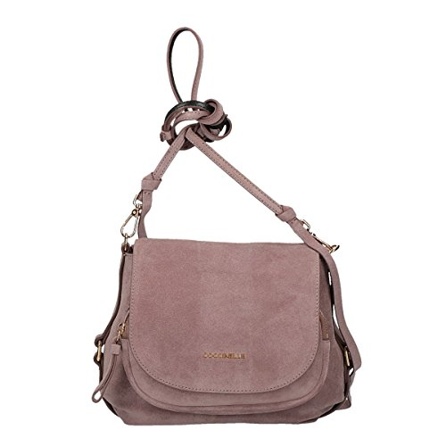 Coccinelle Janine Suede crossbody small pink