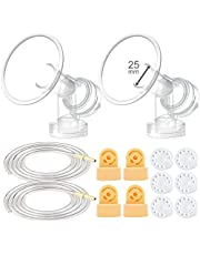 Maymom Breast Pump Kit for Medela Pump in Style Pumps; 2 Breastshields, 4 Valves, 6 Membranes, & 2 Tubes for Pump in Style Advanced Sold After July 2006; Replacement Parts for Medela Breast Shield, Medela Tubing, Valves and Membranes
