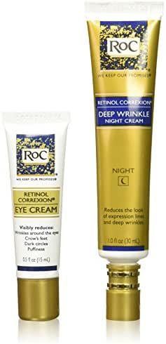 RoC Retinol Correxion Deep Wrinkle Repair Pack, 1 Fl Oz + 0.5 Fl Oz