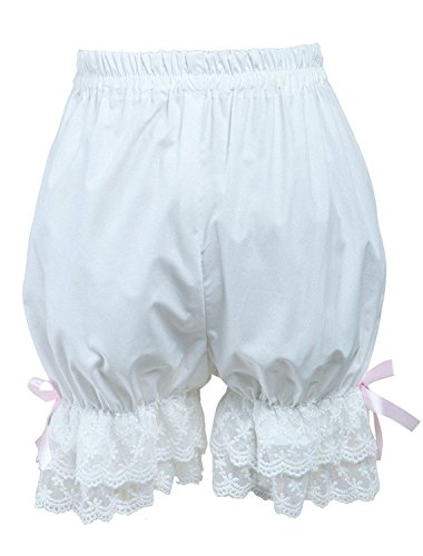 Cemavin Cotton Cute White Lace Lolita Bloomers -