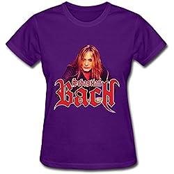 LXJ Sebastian Bach Tour Womens T Shirt Purple XL