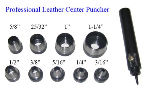 10 Pc Center Hole Puncher Leather Plastic Soft Metal