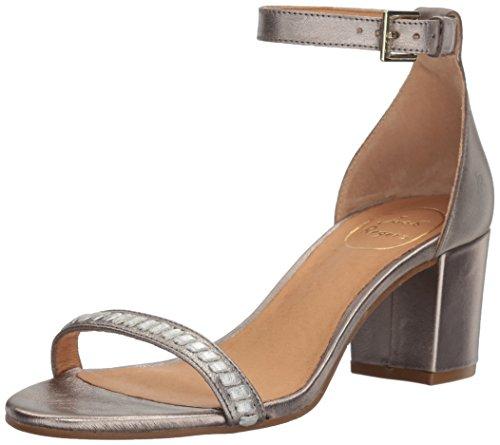 Jack Rogers Women's Lillian Dress Sandal, Pewter/Silver, 11 M US 1217HM0003