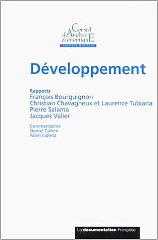 Ebooks au format pdf à télécharger gratuitement Rapport du CAE, numéro 25 : Développement PDF MOBI