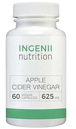 625 Mg 100 Capsules (Apple Cider Vinegar Capsules | Ingenii Nutrition | All Natural | Supports Natural Weight Loss, Detoxifies and Supports Digestion | 60 Premium Extra Strength 625mg Vegetarian Capsules)