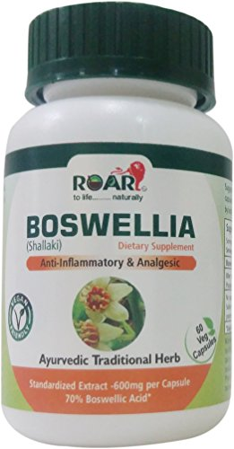 High Potency Boswellia 600mg per Vegetarian Capsules with 70% Boswellic Acid for Anti-Inflammatory and Pain relief