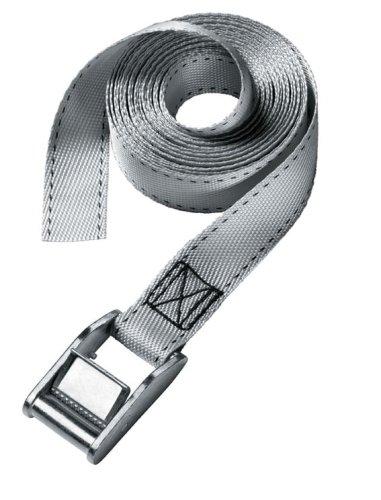 Masterlock 3111EURDAT Lashing Correa con Hebilla de Metal de 2,5 m, Negro, Gris, 2.5 m L x 25 mm W