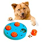 Dog IQ Puzzle Bowl Toys, Dog Food Bowls to Slow Down Eating,Help Prevent Bloating Training Interactive Toy, Dog Twister Puzzle Hide Seek Game