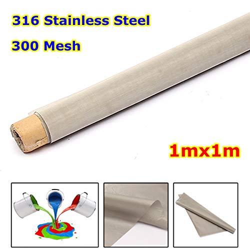 TOYECOTA - 1Mx1M 300 Mesh Filtration 316 Stainless Steel Woven Wire Filtration Screening Filter Screening filter (316 Stainless Steel Filter)