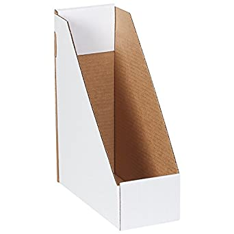 Ordinaire Boxes Fast BFMDIS105 Corrugated Cardboard Magazine File Holder, 9 1/4 X 4 X