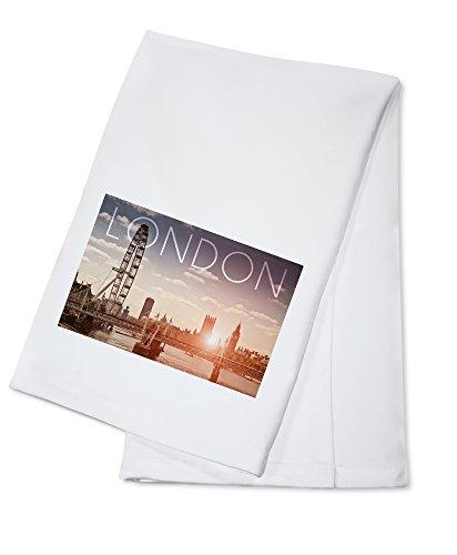 London, England - London Eye and Bridge (100% Cotton Kitchen ()