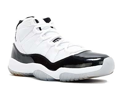 "Men's Jordan Air 11 Retro ""Concord"" Basketball Shoes - 378037 107, White/Black-Dark ConcoRed - Size 7.5 D(M) US"