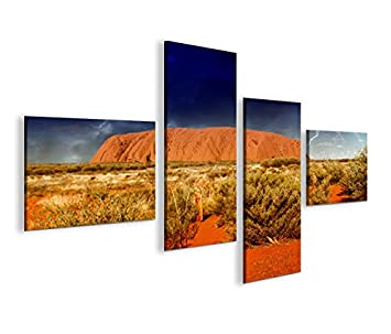 Modernes Bild Ayers Rock In Australien V2 4LP Kunstdruck Auf Leinwand U2013  Rahmen X Sessel Wohnzimmer