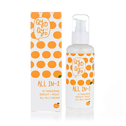 Qyo Qyo Tangerine Bright+Moist All-In-1 Cream Daily Moisturizing Soothing Brightening Facial Care, 150 ml