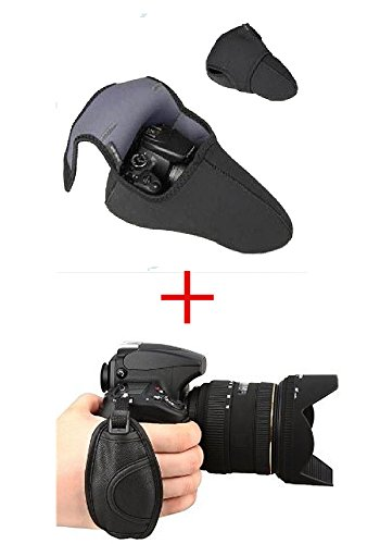 カメラ ケース と ハンド ストラップ のセット 一眼レフ 用 カメラケース...