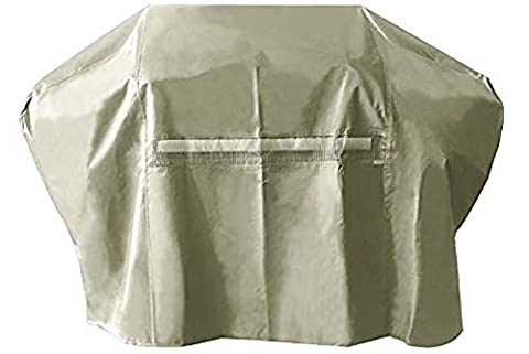 iCOVER 82 Inch Heavy-Duty water proof patio outdoor khaki oxford oversize BBQ Barbecue Smoker/Grill Cover G22607 for weber char-broil Brinkmann Holland and (Brinkmann Smoker Pan)