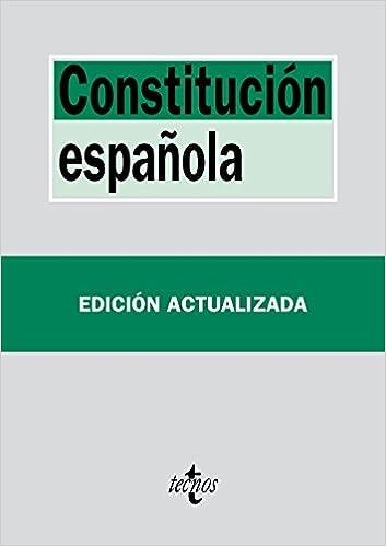 Constitución Española Derecho - Biblioteca De Textos Legales: Amazon.es: Editorial Tecnos: Libros